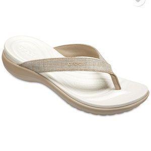 Crocs Capri V Shimmer Flip Flops Sz 9